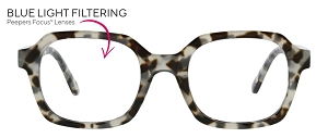 Peepers Jet Set Blue Light Readers - Gray Tortoise