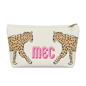 Leopard Duo Zip Pouch (More options available)