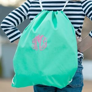 Monogrammed Gym Bag - Mint