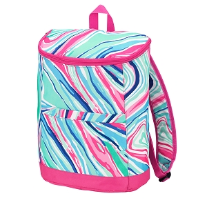 Monogrammed Backpack Cooler (Marble-ous)