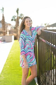 Monogrammed Women's Tunic (Marble-ous)