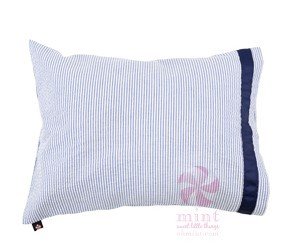 Traveler Pillow - Navy Seersucker