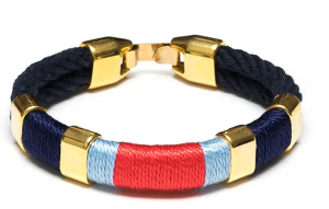 Newbury Bracelet (Navy/Navy/Light Blue/Coral/Gold)