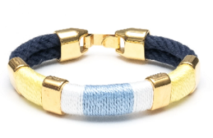 Newbury Bracelet (Navy/Yellow/White/Blue/Gold)