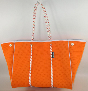 Prene Love Large Neoprene Tote - Orange