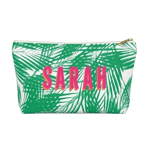 Palm Leaves Zip Pouch (More options available)