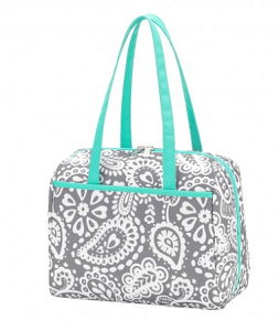 Monogrammed Lunch Tote - Parker Paisley