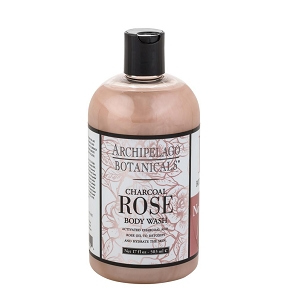 Archipelago Botanicals 17oz Body Wash, Charcoal Rose