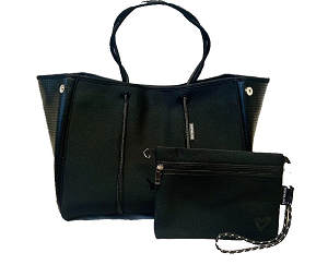 Prene Love Large Neoprene Tote - Black Onyx