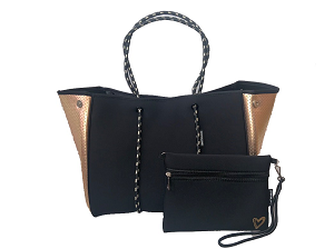 Prene Love Large Neoprene Tote - Golden Nights