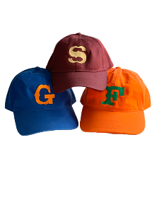 Single Initial Monogrammed baseball cap, 12 Colors Available