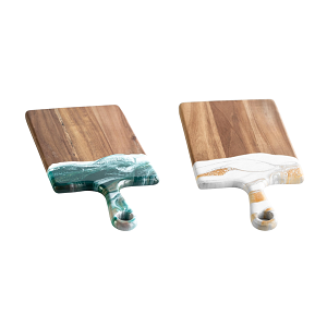 Acacia Resin Accented Cheeseboards - Small (7