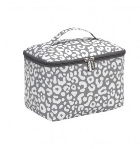 Monogrammed Cosmetic Bag - Smokey Leopard