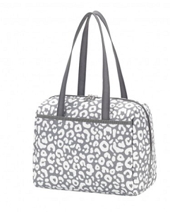 Monogrammed Lunch Tote - Smokey Leopard