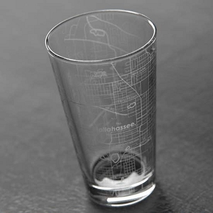 Tallahassee Map Pint Glass