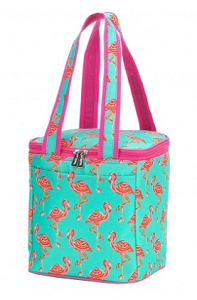 Monogrammed Cooler Tote - Tickled Pink