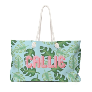 Tropical Travel Tote (More colors available!)