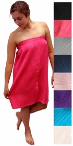 Monogrammed Waffle Weave Spa Wrap, 8 Colors Available