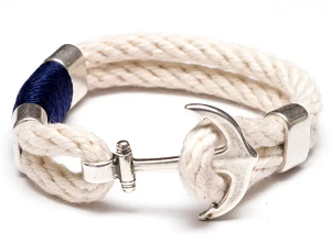 Waverly Bracelet (Silver/Navy/Ivory)