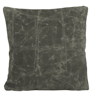 Monogrammed Waxed Canvas Toss Pillow - More Options Available