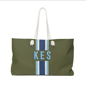 Stripe Army Green Travel Tote (More colors available!)