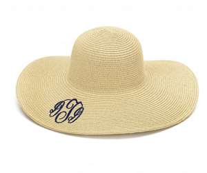 Monogrammed Floppy Hat, 6 Colors Available