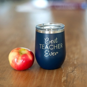 Engraved Insulated Wine Tumbler - Best Teacher Ever