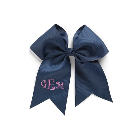 Monogrammed Bow  - Navy