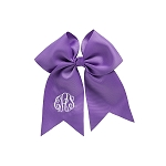 Monogrammed Bow  - Purple