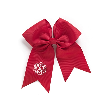 Monogrammed Bow  - Red