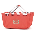 Monogrammed Market Tote, Coral
