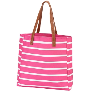 Monogrammed Stripe Tote - 4 Colors Available