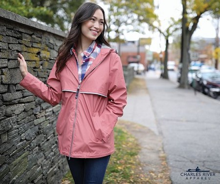 Monogrammed Rain Jacket - 14 Colors Available