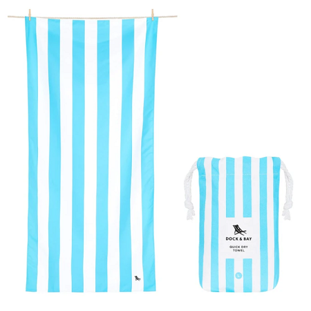 Tulum Blue Striped Towel